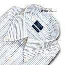 【日清紡アポロコット】【COOL CONSCIOUS】長袖・マルチストライプ・ボタンダウンシャツ・綿100%形態安定・CHOYAシャツCHOYA SHIRT FACTORY(cfd223-455)