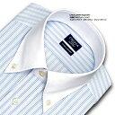 【日清紡アポロコット】【COOL CONSCIOUS】長袖・綿100%形態安定・マルチストライプ・ボタンダウン・クレリックシャツ・CHOYAシャツCHOYA SHIRT FACTORY(cfd323-