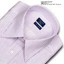 CHOYA SHIRT FACTORY 日清紡アポロコット 長袖 ワイシャツ メンズ 綿100% 形態安定加工 ピンクストライプ レギュラー…