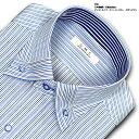 ストライプ・ストッパーカラー・ボタンダウンシャツ ビジネス