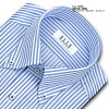 ★New product ★ ELLE HOMME TC form processing cool feeling material spacious long sleeves blues tripe button-down shirt (business shirt shirt Y shirt dress shirt) (zed352-450) becoming stable