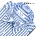 ★新商品★【ELLE HOMME】形態安定加工 涼感素材 ゆったり 長袖ブルーストライプ・ボタンダウンシャツ(ビジネスシャツ/ワイシャツ/Yシャツ/ドレスシャツ/メンズ)(zed352-450)(17