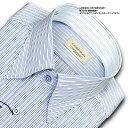 LORDSON CONTEMPORARY綿100% 形態安定加工 標準体ピンストライプ・スナップダウン・ドレスシャツ(zod325-450)