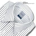 LORDSON 長袖 ワイシャツ メンズ 綿100% 形態安定加工 標準体 ダブルストライプ レギュラーカラー | 高級 上質 (zod9…