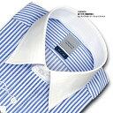【LORDSON】長袖 綿100% 形態安定加工 標準体ロンドンストライプCHOYAシャツ/ドレスシャツ/ワイシャツ/Yシャツ/ビジネスシャツ/メンズ(zod910-450)