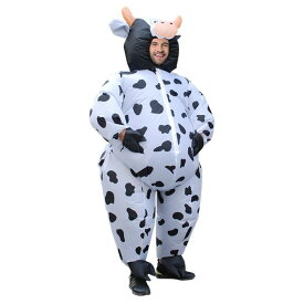 ふくらむ牛さん コスプレ 衣装 ハロウィン 仮装 インフレータブルコスチューム inflatable costumeパーティーグッズ おもしろ 面白い 着ぐるみ 大人用 きぐるみ 空気で膨らむ エアブロー おもしろ着ぐるみ おもしろい おもしろコスチューム 余興 笑える