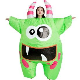 ふくらむエイリアン コスプレ 衣装 ハロウィン 仮装 インフレータブルコスチューム inflatable おもしろ 面白い 着ぐるみ 大人用 きぐるみ 空気で膨らむ エアブロー おもしろ着ぐるみ おもしろい Halloween エイリアン モンスター コスプレ あす楽 コスプレ衣装