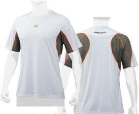 【ネコポス発送】ミズノプロ ■限定品■ メッシュ Tシャツ S-LINE 12JA7T8001-0 ホワイト×ダークガルグレー MIZUNO PRO