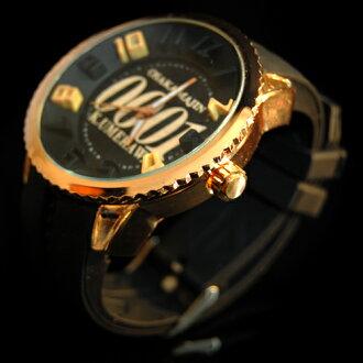 大阪魔人0001腕時計ピンクゴールド×ブラック/リング:ピンクゴールド/ベルト:ブラック
