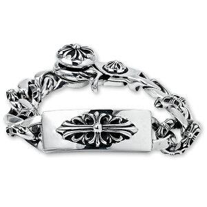 【CHROME HEARTS クロムハーツ Bracelet ブレスレット】フローラルIDファンシーリンクw/クリップブレスレット【送料無料】