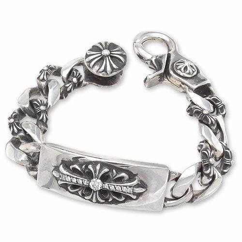 CHRONO Original(クロノオリジナル):Floral ID/Fancy Link w/Clip Bracelet w/Pave Diamond(フローラルIDファンシーリンクw/クリップブレスレットw/パヴェダイヤモンド)