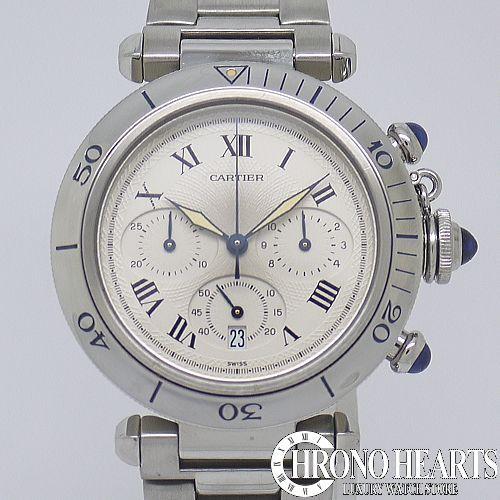 カルティエ【CARTIER】 パシャ38mm クロノグラフQZ【中古】【腕時計】【送料無料】