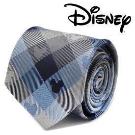 ◎メンズ 紳士 ネクタイ シルク Various Licensed Mickey Mouse Blue Plaid Mens Tie ディズニー DN-MPLD2-BL-TR ミッキーマウス シルエット ブルー チェック 格子柄
