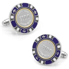 ◎カフス カフリンクス カフスボタン $100 Purple Poker Chip Cufflinks 100ドル ポーカー チップ カジノ CC-POK1-PRP