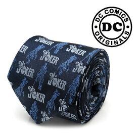 ◎ネクタイ メンズ 紳士 シルク The JOKER Pose Blue Tie ジョーカー DC-JKSDBL-TR ネイビー ブルー 紺色 ハロウィン