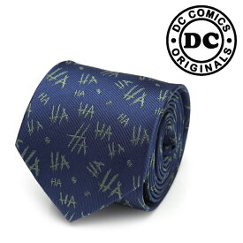 ◎ネクタイ メンズ 紳士 シルク JOKER HaHa Tie ジョーカー DC-JKHAHA-TR ネイビー ブルー 紺色 ハロウィン