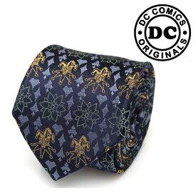 ◎ネクタイ メンズ 紳士 シルク JOKER Print Tie ジョーカー DC-JKFS-TR ネイビー ブルー 紺色 ハロウィン
