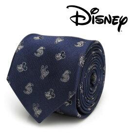 ネクタイ メンズ 紳士 シルク Mickey and Friends Blue Men's Tie ディズニー ミッキー フレンズ DN-MFRIDS-BL-TR ブルー ネイビー 紺色