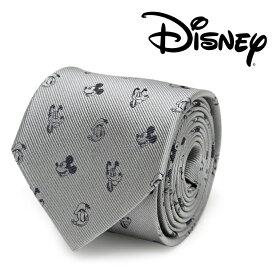 ネクタイ メンズ 紳士 シルク Mickey and Friends Gray Men's Tie ディズニー ミッキー フレンズ DN-MFRIDS-GRY-TR グレー