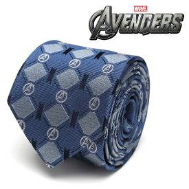 ネクタイ メンズ 紳士 シルク Avengers Argyle Blue Tie アベンジャーズ マーベル ロゴ MV-AVNGAGL-TR アーガイル 格子柄 ブルー ネイビー 紺色