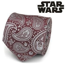 ネクタイ メンズ 紳士 シルク Darth Vader Paisley Red Men's Tie スターウォーズ ダースベイダー ペイズリー SW-VDR-PASY-RD-TR レッド