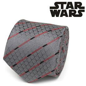 ネクタイ メンズ 紳士 シルク Darth Vader Red Lightsaber Stripe Men's Tie スターウォーズ ダースベイダー ライトセイバー SW-VDLS-GRY-TR グレー レッド