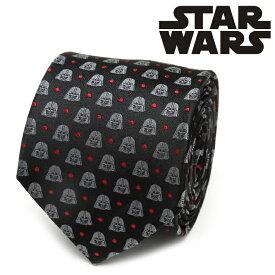 ネクタイ メンズ 紳士 シルク Darth Vader Black Dot Men's Tie スターウォーズ ダースベイダー ドット SW-VDR-DT-BLK-TR グレー