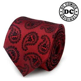 ネクタイ メンズ 紳士 シルク DC Red Batman Paisley Tie バットマン ペイズリー DC-TG-RBP-TR レッド