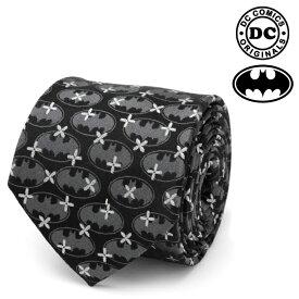 ネクタイ メンズ 紳士 シルク DC Batman Cross Black Silk Men's Tie バットマン DC クロス ブラック ロゴ ブラック DC-BM-CB-TR
