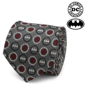 ネクタイ メンズ 紳士 シルク DC Batman Medallion Symbol Charcoal Silk Men's Tie バットマン DC メダリオン シンボル チャコール DC-BMC-TR
