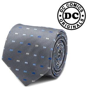 ◎メンズ 紳士 ネクタイ シルク Batman Icon Gray Mens Tie バットマン バットロゴ DC グレー DC-BICN-GRY-TR