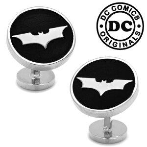 ◎カフス カフリンクス カフスボタン Various Licensed アクセサリー Recessed Black Batman Dark Knight Cufflinks バットマン DC ダークナイト ロゴ ブラック DC-BMDKR-BK