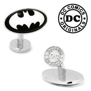 ◎カフス カフリンクス カフスボタン Various Licensed アクセサリー Batman Etched Onyx Cufflinks バットマンロゴ DC オニキス ブラック DC-BMST-SL