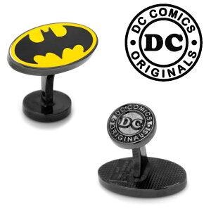 ◎アクセサリー カフス カフリンクス カフスボタン Various Licensed Transparent Enamel Batman Cufflinks バットマン バットロゴ バットシグナル DC イエロー DC-BMTE-BK