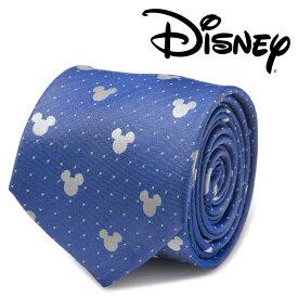 ◎メンズ 紳士 ネクタイ シルク Mickey Mouse Blue Pin Dot Mens Tie ミッキー ディズニー ブルー ネイビー ピンドット DN-MDT-BL-TR