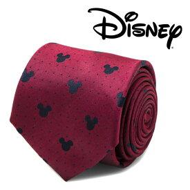 ◎ネクタイ シルク Various Licensed メンズ 紳士 Mickey Mouse Red Pindot Mens Tie ミッキーマウス ディズニー ピンドット DN-MDT-RD-TR
