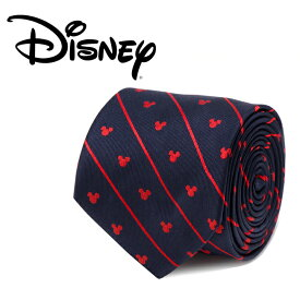 ◎メンズ 紳士 ネクタイ シルク Various Licensed Mickey Mouse Navy Pinstripe Tie ミッキーマウス ディズニー ミッキーマーク シルエット ブルー ストライプ ネイビー DN-MPNST-BL-TR