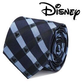 ◎メンズ 紳士 ネクタイ シルク Various Licensed Mickey Mouse Blue Plaid Tie ミッキーマウス ディズニー ミッキーマーク シルエット ブルー ネイビー チェック 格子柄 DN-MPLD-BL-TR