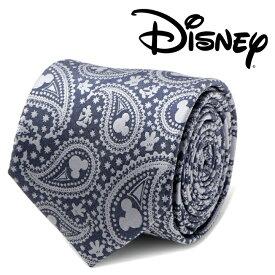 ◎メンズ 紳士 ネクタイ シルク Mickey Mouse Gray Paisley Mens Tie ミッキー ディズニー グレー ペイズリー DN-MPS-GRY-TR