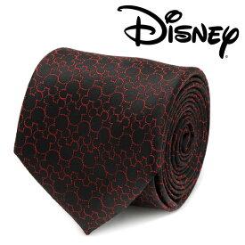 ◎メンズ 紳士 ネクタイ シルク Various Licensed Mickey Mouse Black Tie ミッキーマウス ディズニー ミッキーマーク シルエット ブラック DN-MTON-BK-TR