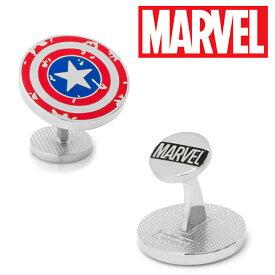 ◎アクセサリー カフス カフリンクス カフスボタン Various Licensed Captain America Distressed Shield Cufflinks キャプテンアメリカ アベンジャーズ マーベル シールドロゴ 盾 MV-CASD-SL