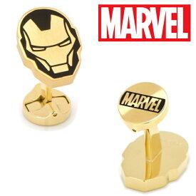 ◎カフス カフスボタン Stainless Steel Blackand Gold Iron Man Cufflinks アイアンマン カフス リンク ブラック ゴールド ステンレス MV-IMMH-GL