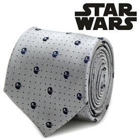 ◎ネクタイ シルク Various Licensed メンズ 紳士 Death Star Dot Tie スターウォーズ デススター ドット グレー SW-DSDT-GRY-TR