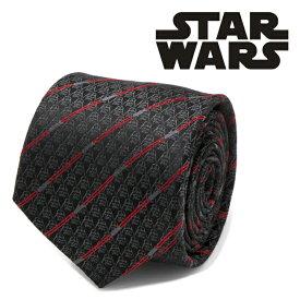 ◎ネクタイ シルク Various Licensed メンズ Darth Vader Black Lightsaber Stripe Mens Tie スターウォーズ ダースベイダー ライトセーバー ブラック SW-DVLS-BK-TR