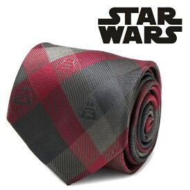 ◎ネクタイ シルク Various Licensed メンズ 紳士 Darth Vader Red Plaid Mens Tie スターウォーズ ダースベイダー チェック SW-DVPLD-RD-TR
