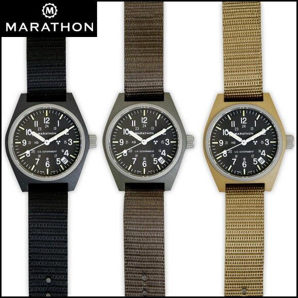 MARATHON General Purpose Field Watch Date マラソン ジェネラルパーパス フィールドウォッチ デイト クォーツ WW194015【送料無料】【メンズ】【腕時計】【ミリタリーウォッチ】