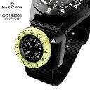 アメリカ軍 ミリタリー品 MARATHON Clip-On Wrist Compass with Glow in The Dark Bezel CO194005 マラソン クリップ…