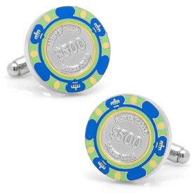 カフス カフリンクス カフスボタン $500 Blue Poker Chip Cufflinks 500ドル ポーカー チップ カジノ CC-POK5-BLU