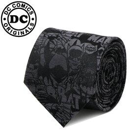メンズ 紳士 ネクタイ シルク Various Licensed Black Batman Comic Tie バットマン DC アメコミ柄 ブラック DC-BATC-BK-TR