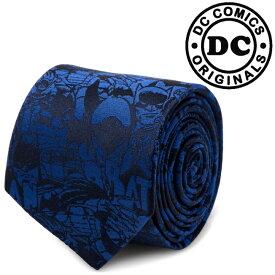 メンズ 紳士 ネクタイ シルク Various Licensed Blue Batman Comic Tie バットマン DC アメコミ柄 ブルー DC-BATC-BL-TR